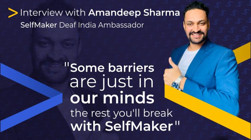 """""""Some barriers are just in our minds, the rest you'll break with SelfMaker"""". Read new interview from #selfevolution <STAR> series powered by SelfMaker Smart Solutions"""